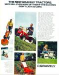 Click here to enlarge image and see more about item R9016: Graveley lawn tractors ad  1971
