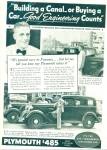 Click here to enlarge image and see more about item R9092: Plymouth automobile ad in 1934