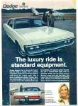 Click here to enlarge image and see more about item R9143: Dodge Monaco for 1970 ad WHITE CAR