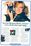 Click here to enlarge image and see more about item R9191: Olympus camera ad 1980 CHERYL TIEGS