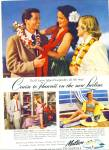 1949 MATSON Cuise SHIP to Hawaii AD LURLINE