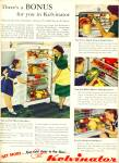 Click here to enlarge image and see more about item R9461: Kelvinator refrigerator ad 1949