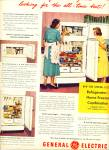 Click here to enlarge image and see more about item R9467: General Electric refrigerator ad 1949