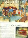 Click here to enlarge image and see more about item R9521: Wurlitzer  pianos ad 1947