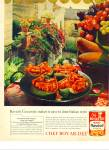 Click here to enlarge image and see more about item R9653: Chef Boy-ar-dee beef ravioli ad 1963
