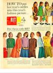 RIR  tints and dyes ad 1963