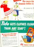 Click here to enlarge image and see more about item R9708: Tide soap ad - 1951 She Swears by Tide