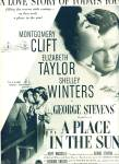 Movie AD PLACE IN THE SUN - ELIZABETH TAYLOR