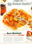 Click here to enlarge image and see more about item R9726: Aunt Jemimas ready mix pancakes ad 1951