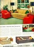 Simmons Hide a bed sofa ad 1958