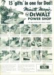Click here to enlarge image and see more about item R9826: DeWalt power tools ad - 1958