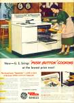Click here to enlarge image and see more about item R9867: General Electric electric ranges ad 1950
