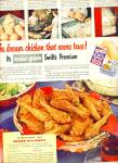 Swift's premium tender grown chicken ad 1950