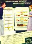 Click here to enlarge image and see more about item R9884-1158945226: Crosley refrigerator ad 1950