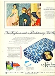 Click here to enlarge image and see more about item R9885a: U. S. Koylon foam ad 1950 MATTRESS AD #2