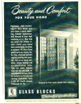 Glass Blocks ad 1950