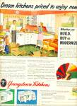 Click here to enlarge image and see more about item R9951: Youngstown Kitchens ad 1953