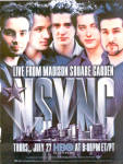 Click here to enlarge image and see more about item sa1062: 2000 N'SYNC No Strings Attached Concert Ad