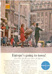 1964  PAN AM AIRLINES EUROPE Travel AD