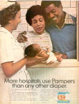 Click here to enlarge image and see more about item sa1095: 1977 Pampers stay-dry  African American ad