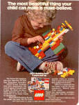 Click here to enlarge image and see more about item sa1097: 1977 Lego building set for 3 years and up ad