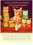 Click here to enlarge image and see more about item Z10000: 1966 -  Friskies cat food ad