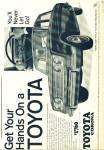 1967 - Toyota automobile ad