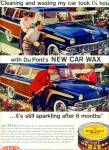 Click here to enlarge image and see more about item Z10017: 1958 - DuPont New 7 car wax ad