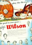 Click here to enlarge image and see more about item Z10019: 1951 -  Wilson sporting equipment ad