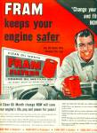 Click here to enlarge image and see more about item Z10049: 1955 -  Fram oil filters ad