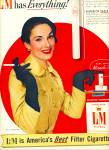 Click here to enlarge image and see more about item Z10053: 1955 - L & M filter cigarettes ad
