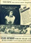1955 -  Movie AD I'll Cry tomorrow - Hayward