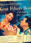 Click here to enlarge image and see more about item Z10163: 1958 - Kent cigarettes ad