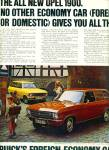 Click here to enlarge image and see more about item Z10304: 1970 -  Buick's Opel automobile ad