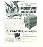 Click here to enlarge image and see more about item Z1035: Oasis dehumidifier ad 1957