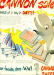 1972 - Cannon Sheets ad