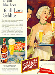 Click here to enlarge image and see more about item Z10431: 1952 -  Schlitz Beer ad
