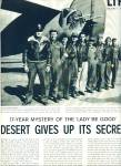 1960 -  17 year mystery of the Lady be Good