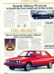 Click here to enlarge image and see more about item Z10529: 1983 -  Renault - American Motors, auto ad