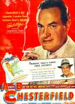 Click here to enlarge image and see more about item Z10610: 1949 - Chesterfield cigarettes - BOB HOPE