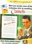 Click here to enlarge image and see more about item Z10639: 1950 - Camels cigarettes - P;ETER LIND HAYES