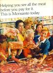 Click here to enlarge image and see more about item Z10743: 1967 - Monsanto wrapping ad