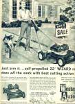 Click here to enlarge image and see more about item Z10775: 1962 -  Westerm Auto Wizard lawn mower