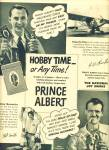 Click here to enlarge image and see more about item Z10817: 1947 -  Prince Albert tobacco ad HOBBY TIME