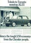 1967 -  Simca automobile ad