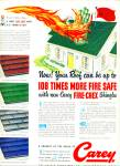 1950 -  Carey roof shingles ad