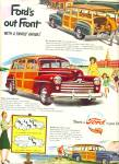 Click here to enlarge image and see more about item Z11049: 1947 - Ford Station wagons ad