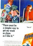Click here to enlarge image and see more about item Z1113: 1965 Salvo low suds tablets ad 1965