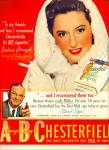 Click here to enlarge image and see more about item Z11144: 1942 -  Chesterfield cigarettes-BARB STANWYCK