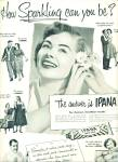 1951 - Ipana tooth paste ad